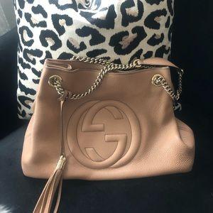 GUCCI SOHO NUDE/GOLD purse